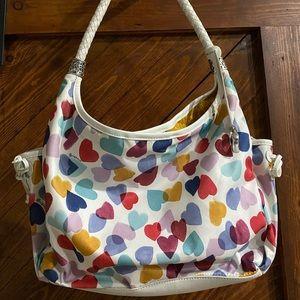 White with hearts Brighton purse